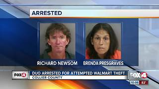 Duo Arrested for Attempted Walmart Theft - Video