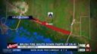 Tamiami Trail closed in Collier County due to smoke - Video
