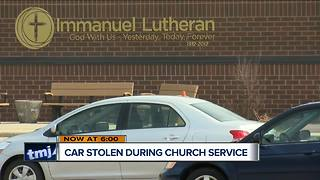 Brazen thieves in Brookfield: Car stolen during church service - Video