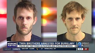 Twin brothers arrested for burglary