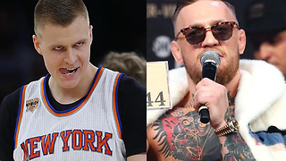 Kristaps Porzingis Getting Help from...Conor McGregor!? - Video