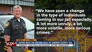 Doors back on certain cells at Warren County jail - Video