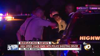 High-speed chase ends with police shooting driver - Video