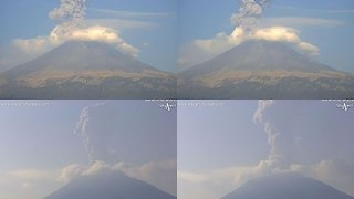 Ash Erupts from Volcán Popocatépetl - Video