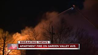 Big apartment fire on Garden Valley Road - Video
