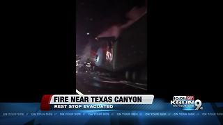 Fire burning between Benson and Willcox, rest stop evacuated - Video