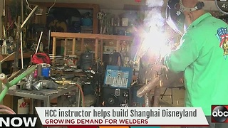 HCC Instructor helps create Shanghai Disney - Video