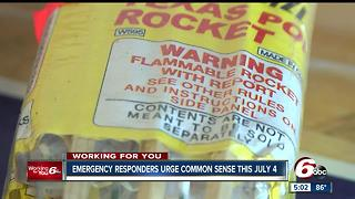 Emergency responders urge common sense this July 4 - Video