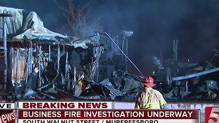 Fire Destroys Murfreesboro Business - Video