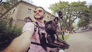 Man Finds the Perfect way to Commute to Work With his Dog - Video