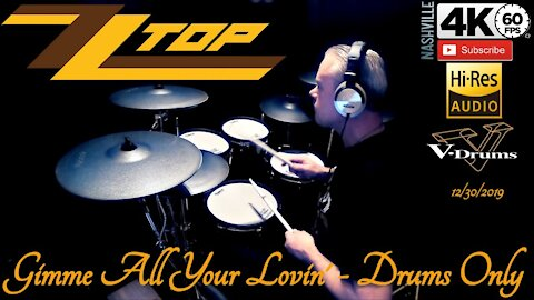 ZZ TOP - Gimme All Your Lovin' - Drums Only