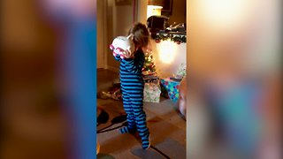 Kids Opening Christmas Presents - Video