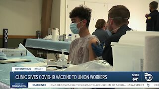 Clinic gives COVID-19 vaccine to Union workers