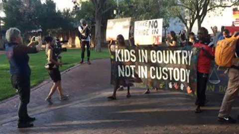 Demonstrators Call For Youth Detention to Close