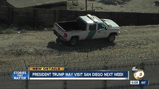 Sources: President Trump may visit San Diego next week