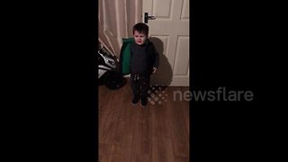 Stroppy boy, 4, cries because he can't go to the pub - Video