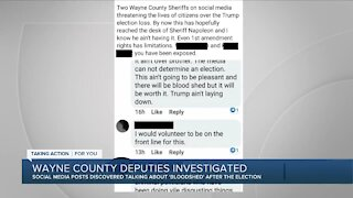 Wayne County deputies being investigated for alleged social media posts about the election