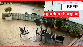 Thieves pulled up outside a pub beer garden and made off with all of their FURNITURE