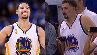 Creepy Klay Thompson Impersonator Shows Up to Warriors Game - Video
