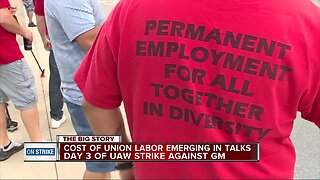 Cost of union labor emerging in talks on day 3 of UAW strike against GM
