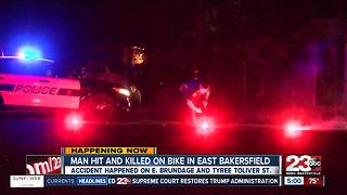 Man killed in East Bakersfield hit and run crash - Video
