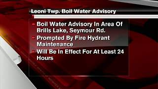 Boil water advisory in effect for Leoni Twp. - Video