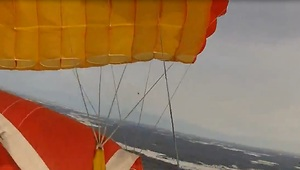 Skydiver survives terrifying low cutaway and tree landing - Video