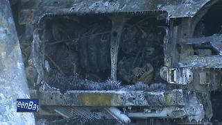 One injured, 30 firefighters help fight fire - Video