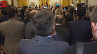 Acosta Loses Control, Literally Starts Screaming After Trump Speech