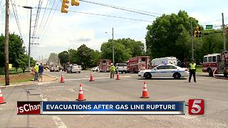 Gas Leak Shuts Down Portion Of Donelson Pike - Video