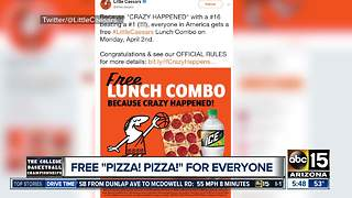 Get free pizza at Little Caesars! - Video