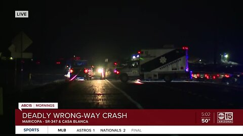 Wrong-way driver leaves one dead near Maricopa