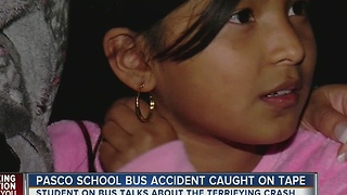 9-year-old student describes terrifying crash as semi-truck collides with her school bus - Video