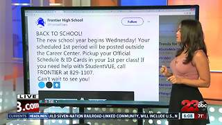 High Schools prepare for the first day of school
