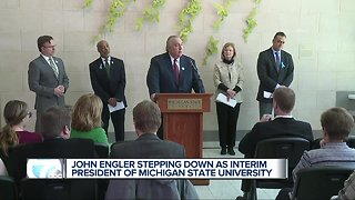 John Engler stepping down as interim president of Michigan State University
