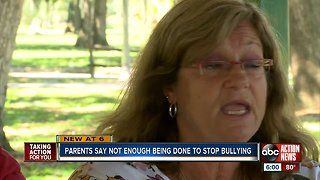 Parents say not enough being done to stop bullying