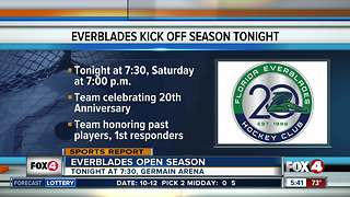 Everblades honoring first responders - Video