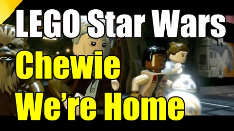 LEGO Star Wars The Force Awakens Chewie Were Home Achievement Trophy