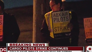 Cargo pilots continue strike at CVG - Video