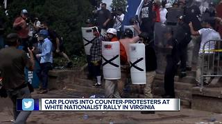 At least one dead as Virginia city rocked by white nationalist protests - Video
