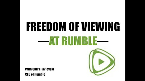 Freedom of Viewing-at Rumble
