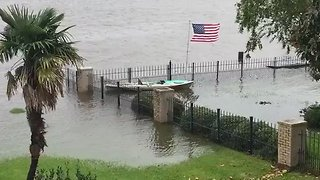 Water Recedes in Lake Charles, Louisiana - Video