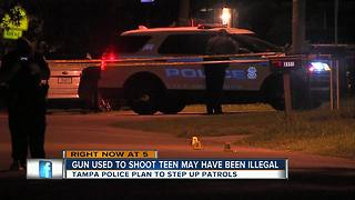 Teen shot while heading home from friends house in East Tampa - Video