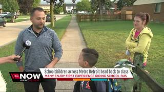 Schoolchildren across metro Detroit head back to class