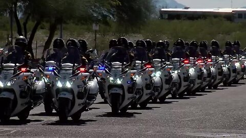 Procession for fallen Arizona officer leaves Pima County