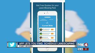 New app may be future of lawn service - Video