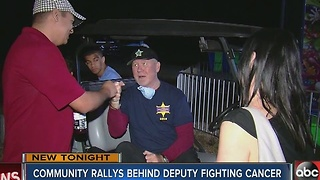 Community rallys behind deputy - Video