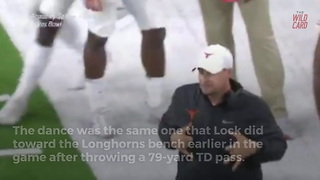 Texas Coach Tom Herman Mocks Mizzou's Quarterback With Little Dance - Video