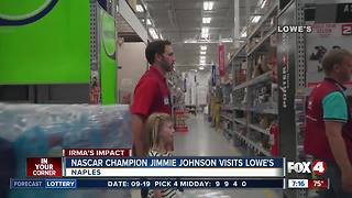 Hurricane Irma: Nascar champion visits those affected by Irma in Naples - Video