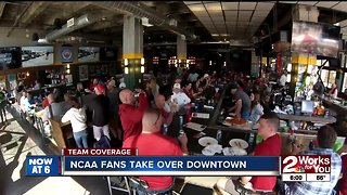 NCAA fans take over downtown